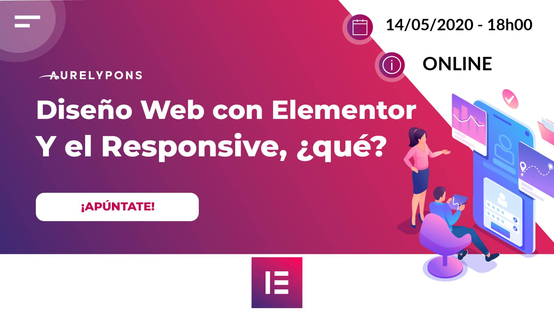 Meetup online Elementor Responsive Aure