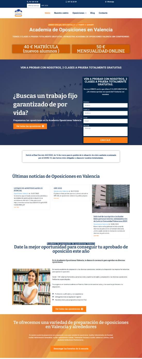 formacion diseno web valencia clase particular web alumno oposiciones valencia