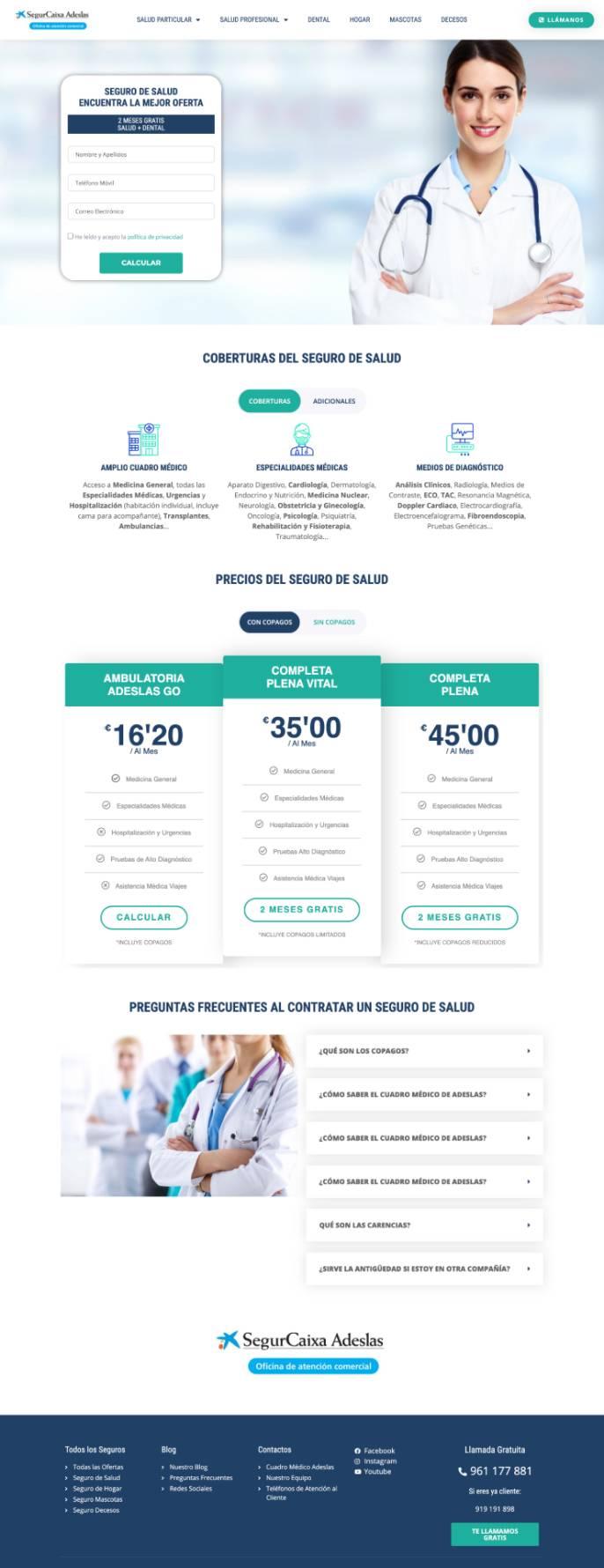 formacion diseno web valencia clases particulares web alumno seguros adeslas